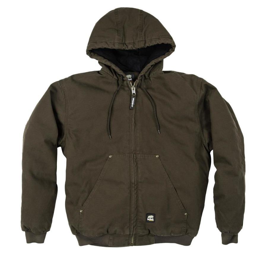 BERNE APPAREL Large-Long Men's Washed Duck Work Jacket