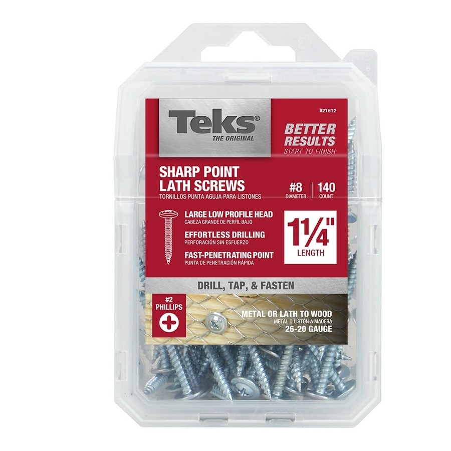Teks 140-Count #8 x 1-in Roofing Screws