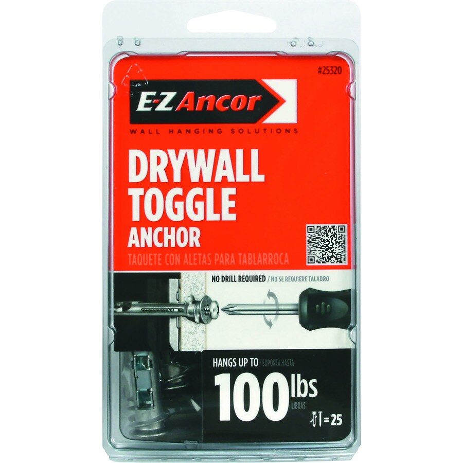 E-Z Ancor 25-Pack Toggle Lock Self Drilling Drywall Anchors