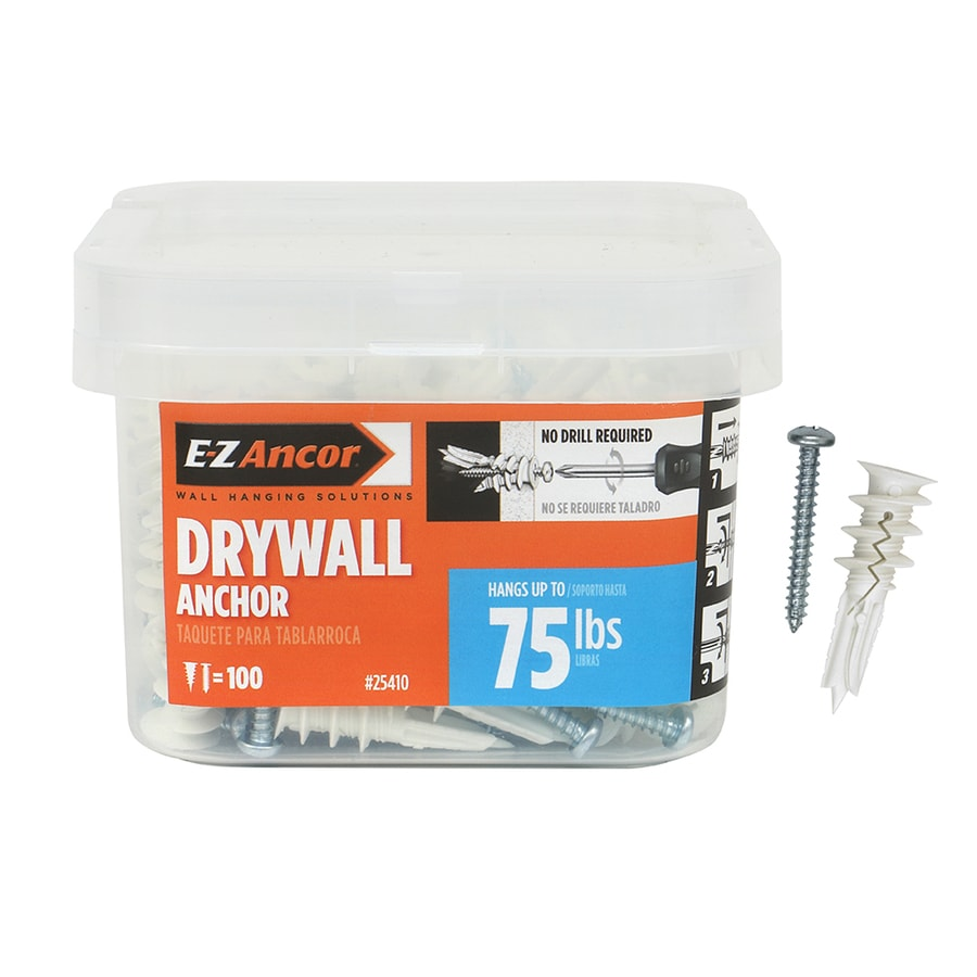 50 Pack Easy to Attach Fire Resistant Solid Drywall Fastner Clip w// 100 Screws