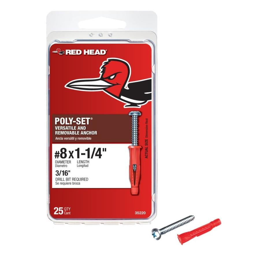 Red Head 1.25-in x 0.375-in All-Purpose Anchor