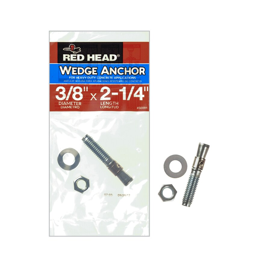 Red Head 3/8-in x 2-1/4-in Wedge Anchor for Solid Concrete