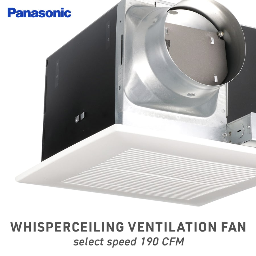 Shop panasonic 1 3 sone 190 cfm white bathroom fan energy - Panasonic bathroom ventilation fans ...