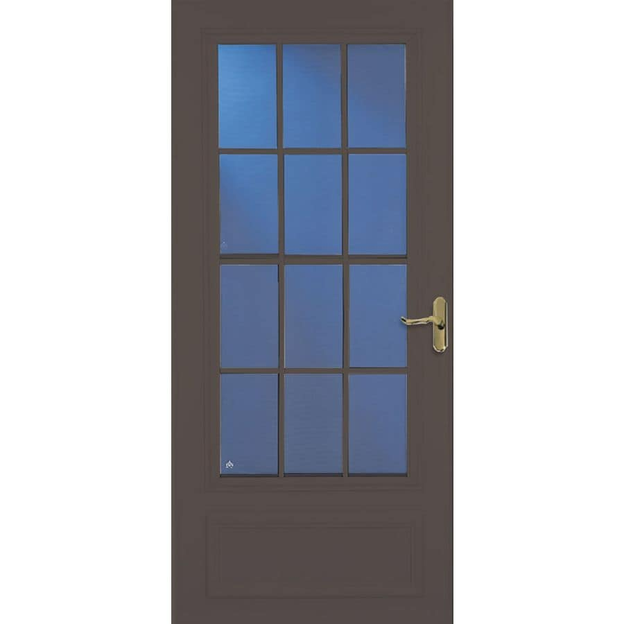 Shop larson 36 in x 81 in brown colonial mid view tempered for 36 inch storm door