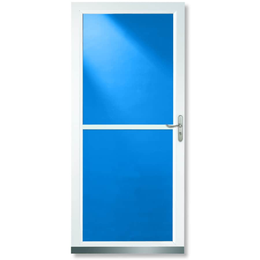 Shop larson 36 white tradewinds aluminum screen door at for Aluminum screen doors