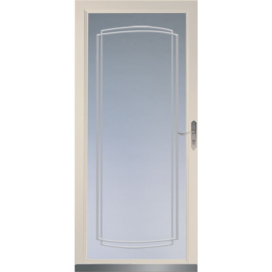Shop larson signature almond full view tempered glass for Larson storm doors