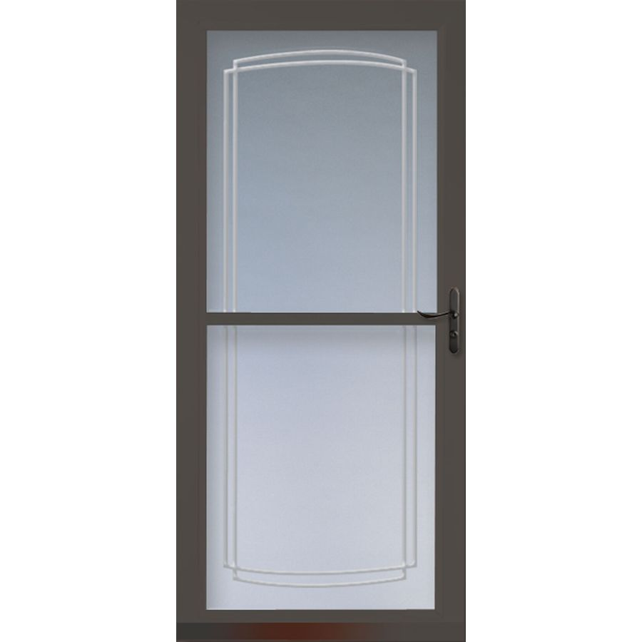 Shop larson tradewinds brown full view tempered glass for 36 inch storm door