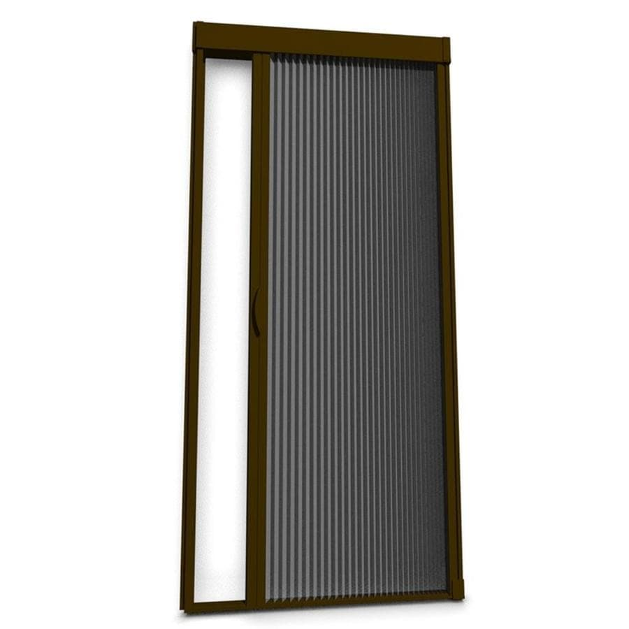 Shop larson brownstone retractable screen door actual 39 for Front door screen doors lowes