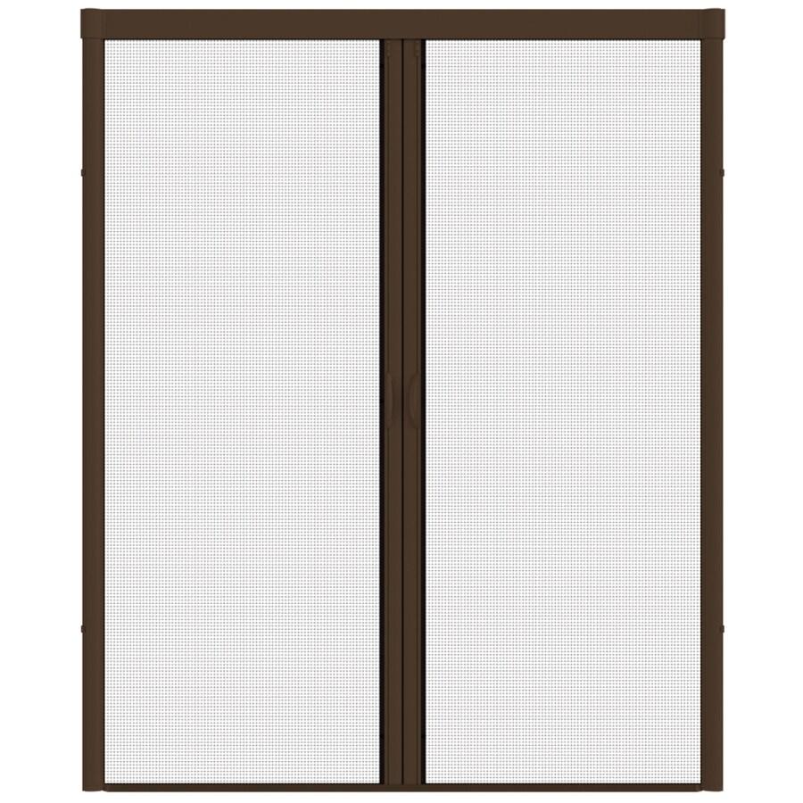 LARSON 84-in x 79-in Brownstone Retractable Screen Door