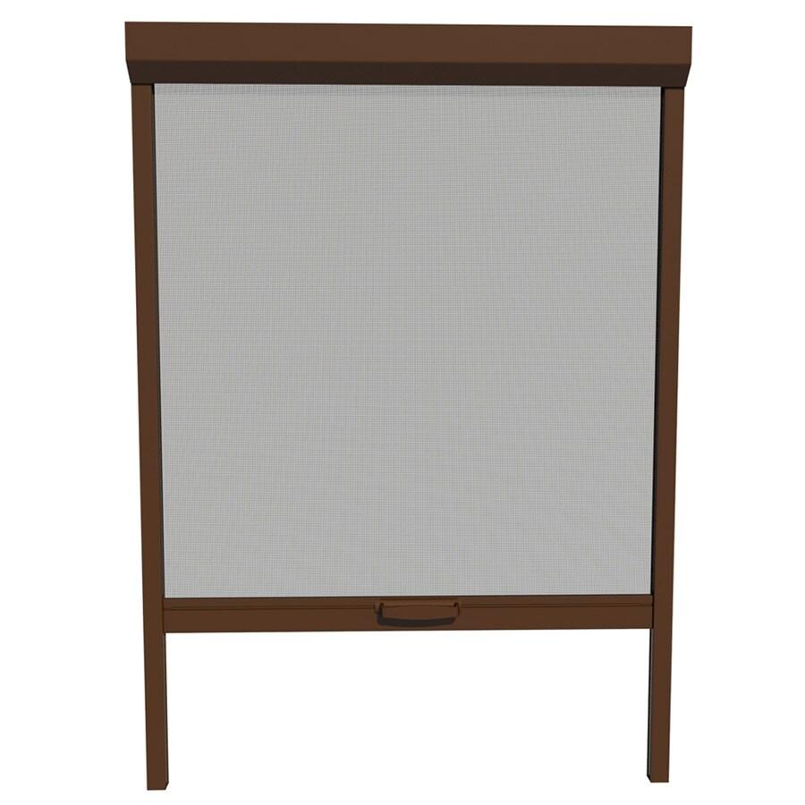 LARSON 30-in x 72-in Brownstone Retractable Screen Door