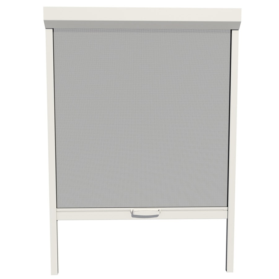 Shop larson 36 in x 72 in white retractable screen door at for Disappearing screen doors lowes