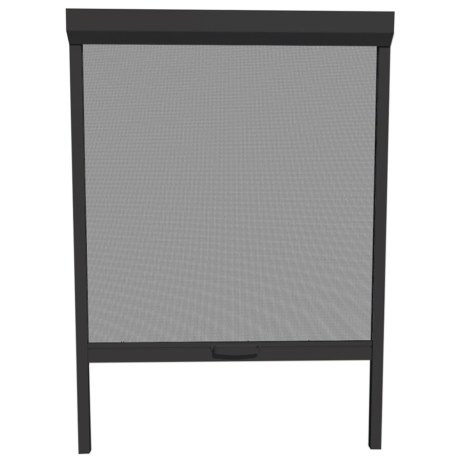 LARSON NatureVue 36-in x 72-in Black Retractable Screen Door