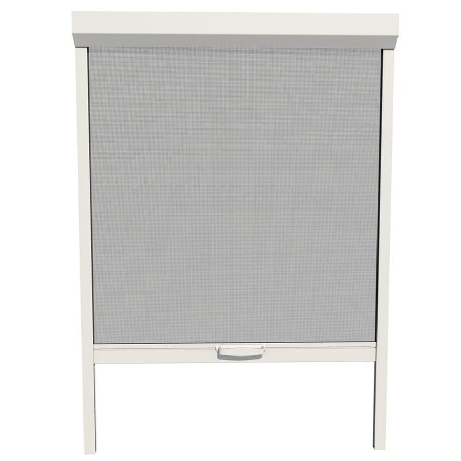 LARSON 48-in x 72-in White Retractable Screen Door