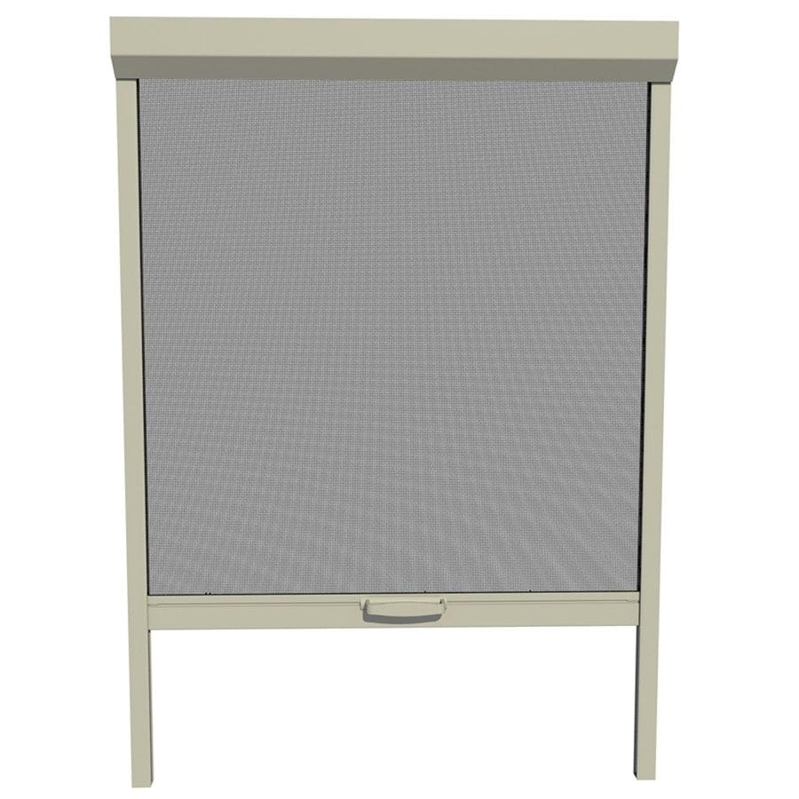Shop larson 30 in x 72 in adobe retractable screen door at for Retractable screen door lowes