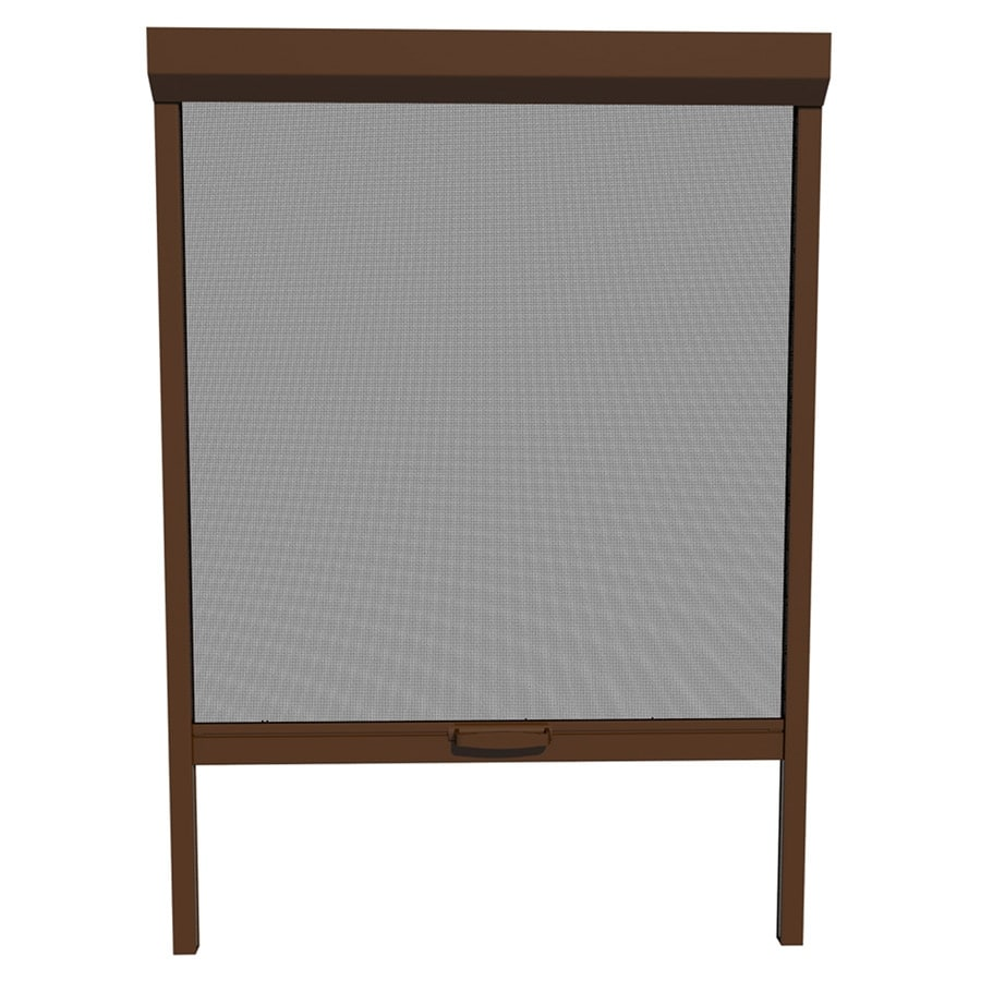 Shop larson 48 in x 72 in brownstone retractable screen for Disappearing screen doors lowes