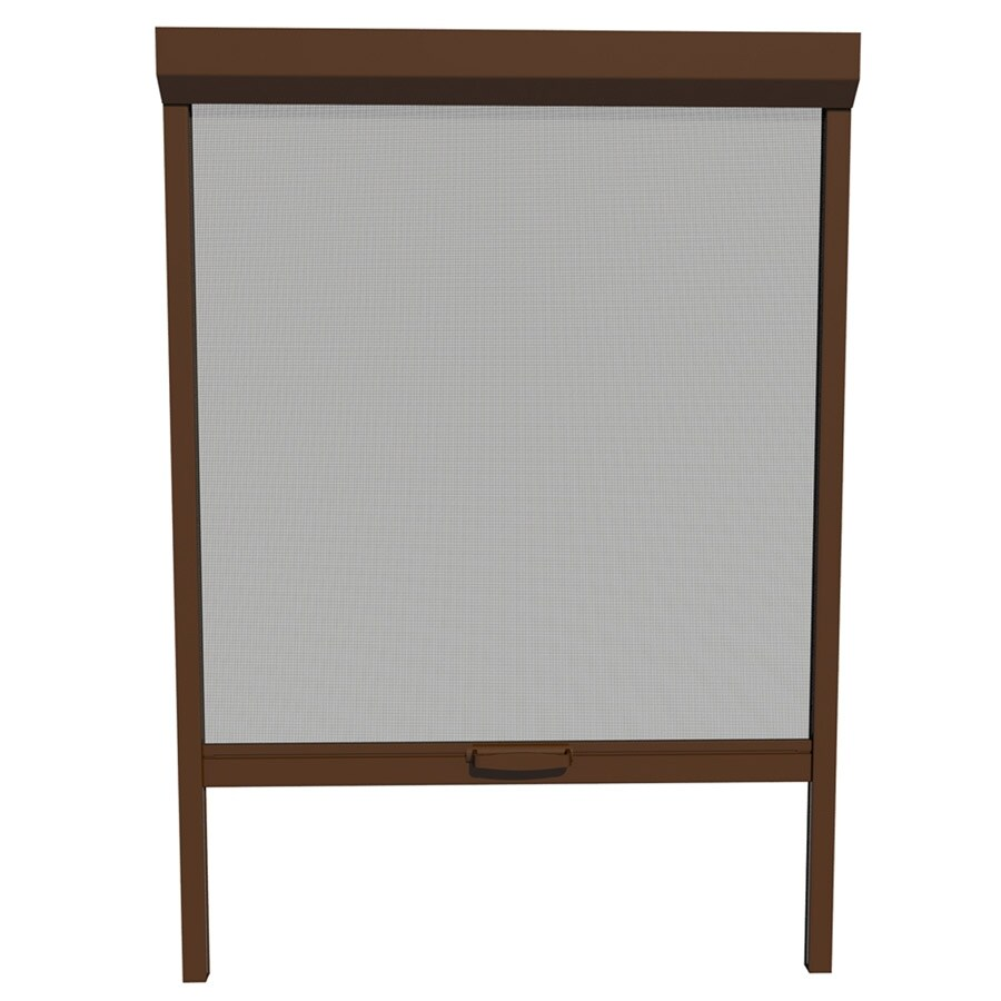 LARSON 26-in x 72-in Brownstone Retractable Screen Door