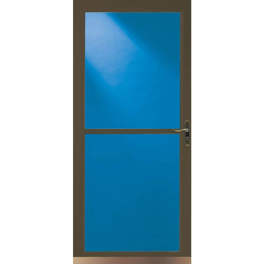 LARSON 36-in x 81-in Brown Tradewinds Full-View Tempered Glass Storm Door