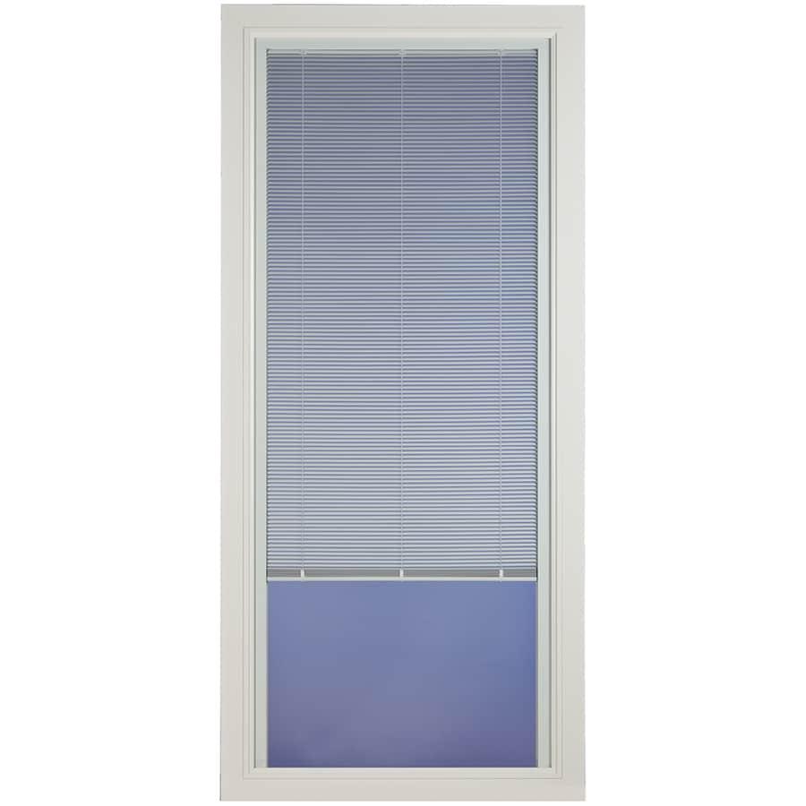 Pella Venetian White Full-View Tempered Glass Aluminum Blinds Between the Glass Storm Door (Common: 36-in x 81-in; Actual: 35.75-in x 79.875-in)