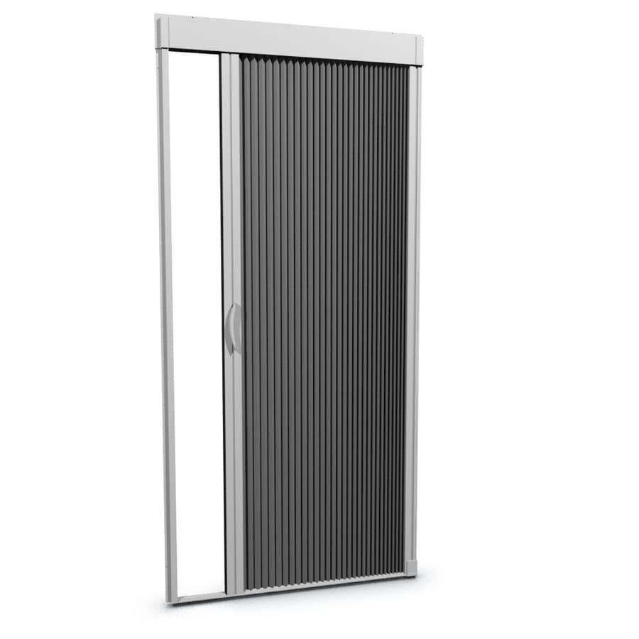 LARSON 35.375-in x 77-in White Retractable Screen Door