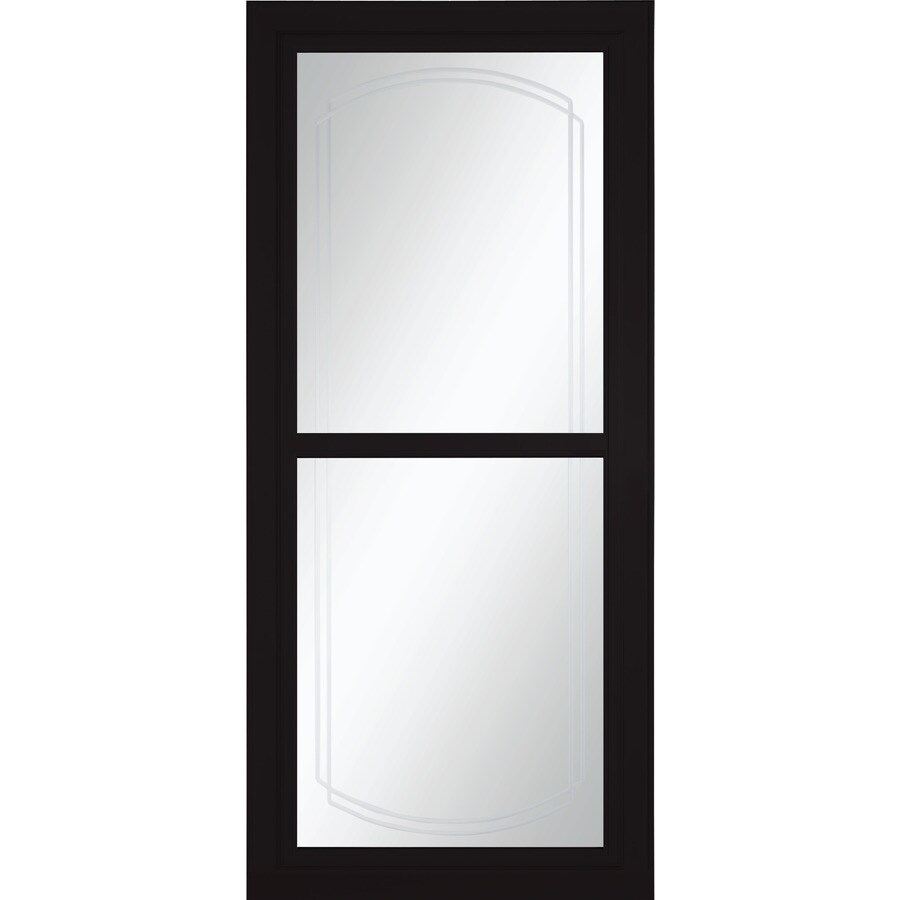LARSON Tradewinds Selection Black Full-View Beveled Safety Aluminum Retractable Screen Storm Door (Common: 36-in x 81-in; Actual: 35.75-in x 79.75-in)