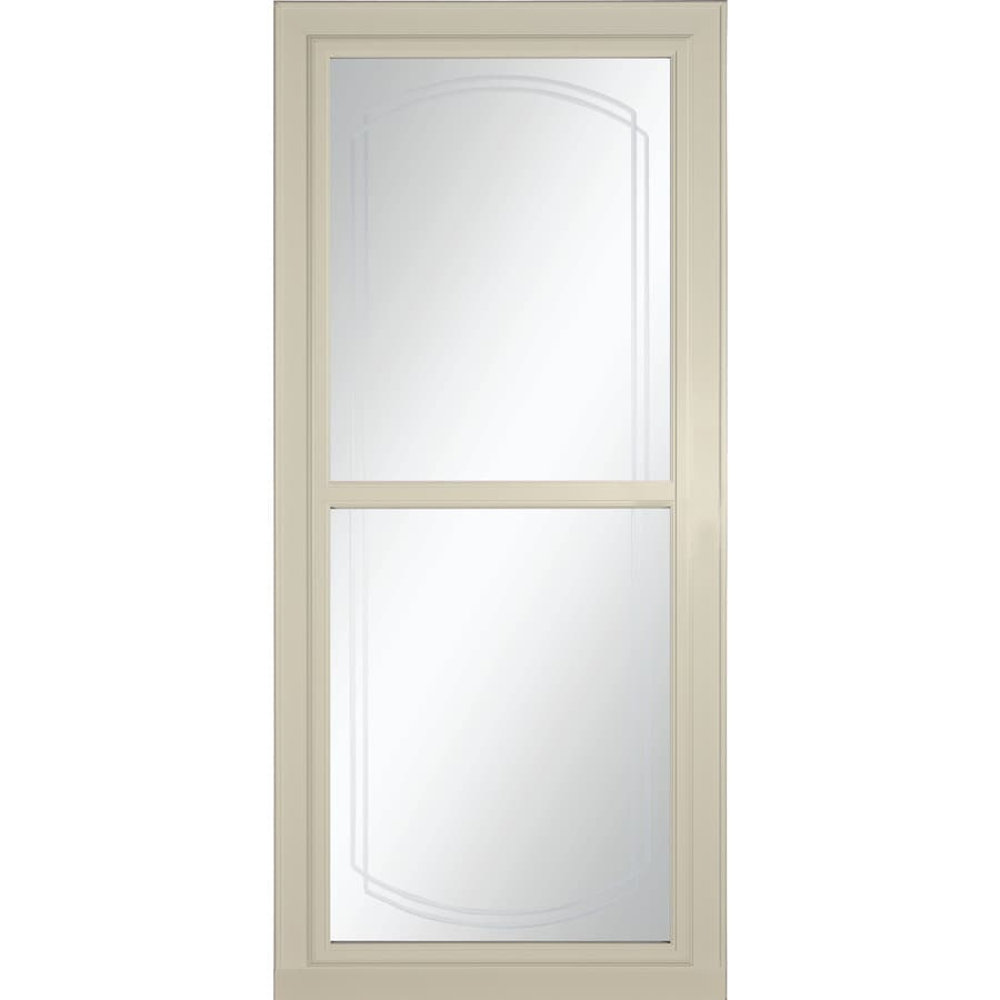 LARSON Tradewinds Selection Almond Full-View Beveled Safety Aluminum Retractable Screen Storm Door (Common: 36-in x 81-in; Actual: 35.75-in x 79.75-in)