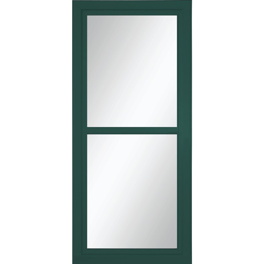 LARSON Tradewinds Selection Green Full-View Tempered Glass Aluminum Retractable Screen Storm Door (Common: 36-in x 81-in; Actual: 35.75-in x 79.75-in)