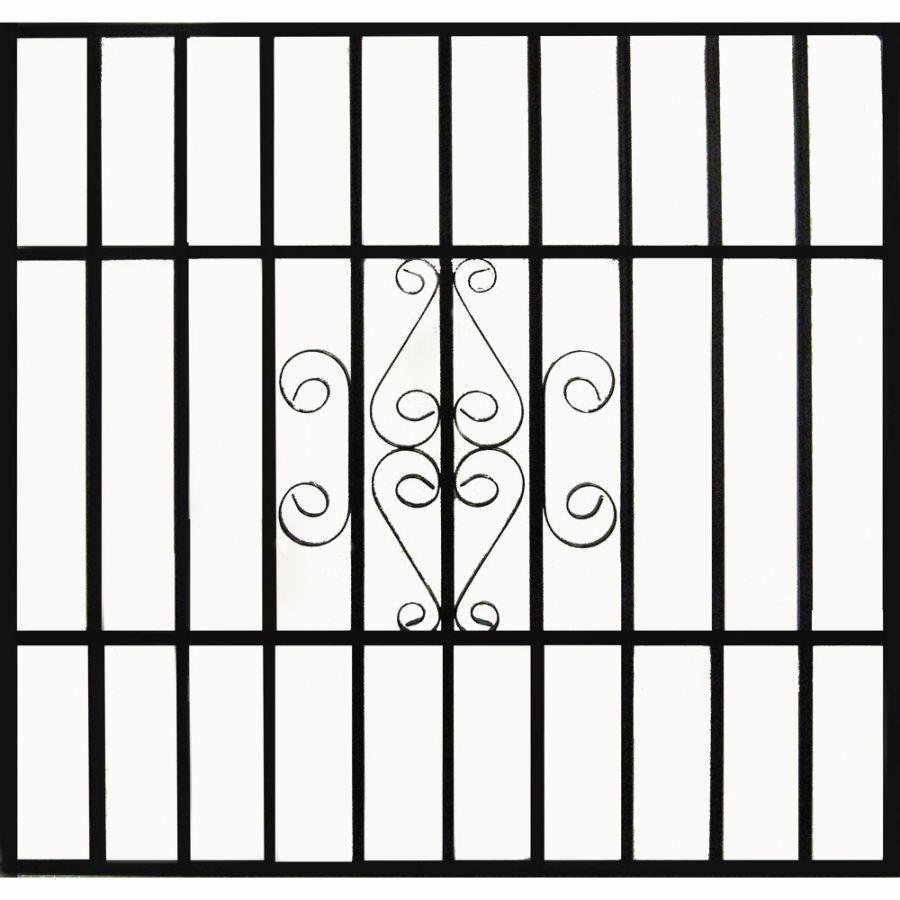 Gatehouse Scrolled 43-in Black Scrolled Window Security Bar