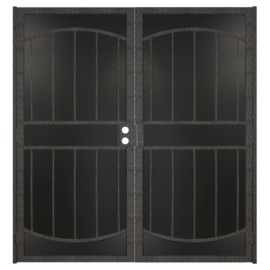 Gatehouse Gibraltar Max Silverado Steel Surface Mount Double Security Door (Common: 72-in x 81-in; Actual: 74.75-in x 81.75-in)