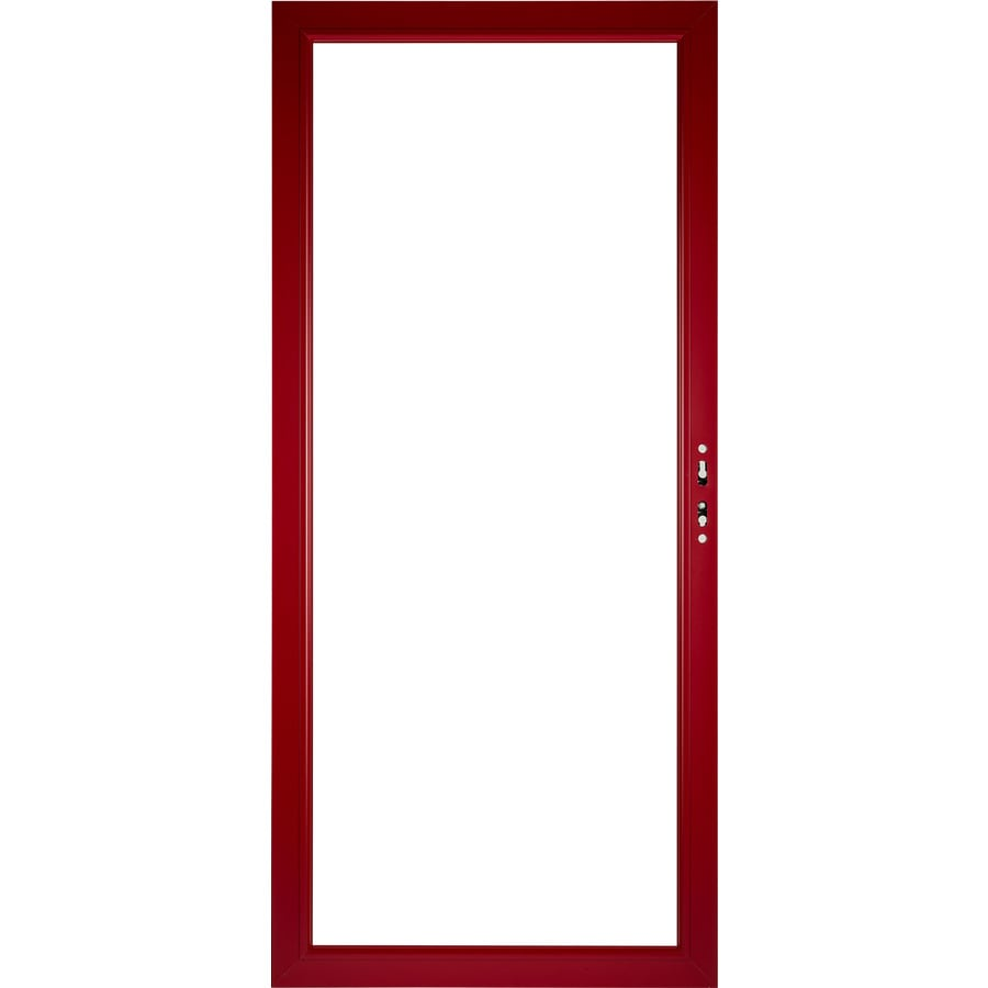 shop pella select aluminum 36 in x 81 in storm door frame