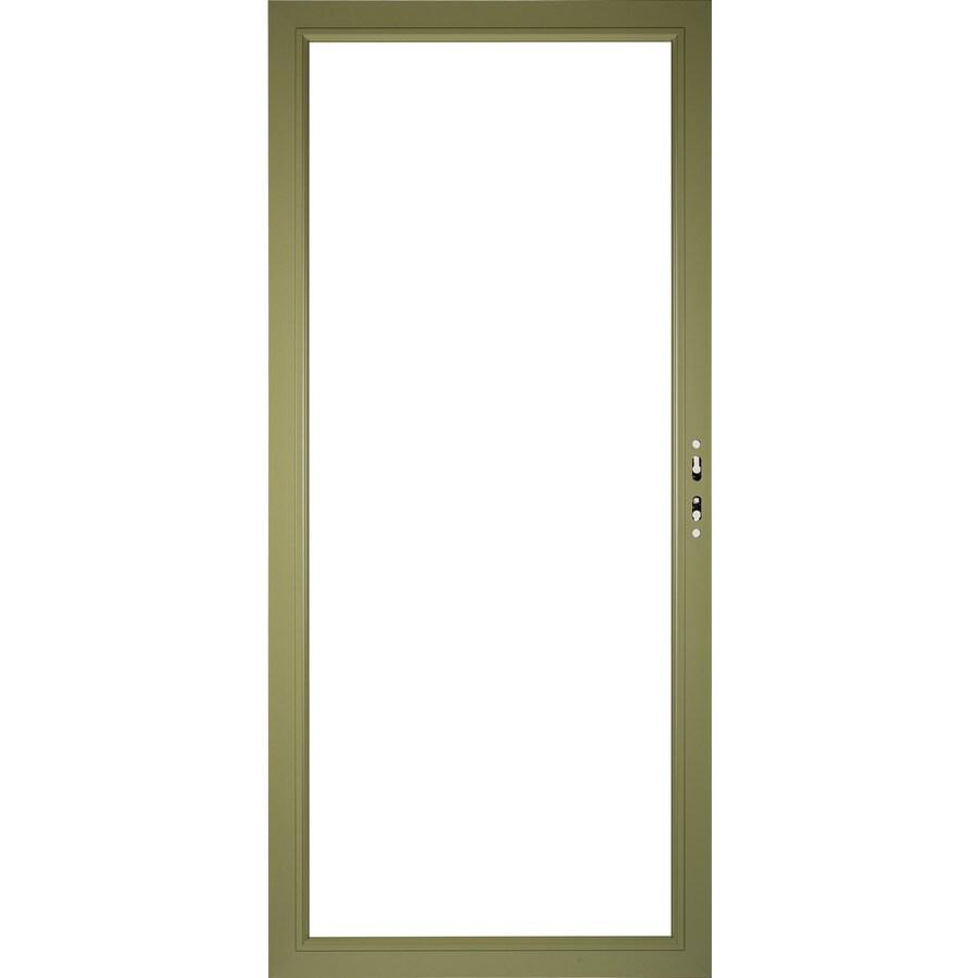 Storm Door Frame : Shop pella select aluminum in storm door frame