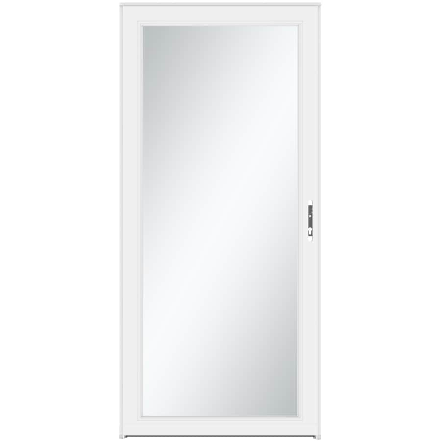 LARSON Signature Selection White Full-View Tempered Aluminum Storm Door (Common: 36-in x 81-in; Actual: 35.75-in x 79.75-in)