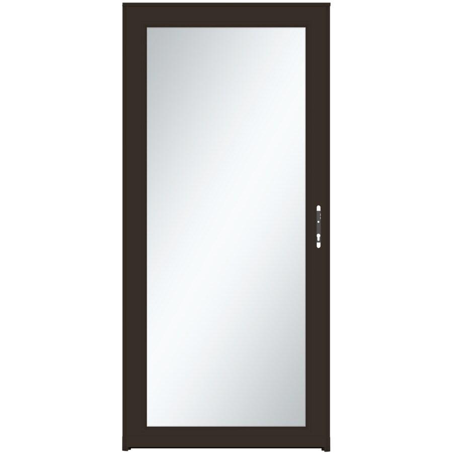 LARSON Signature Selection Brown Full-View Tempered Aluminum Storm Door (Common: 36-in x 81-in; Actual: 35.75-in x 79.75-in)