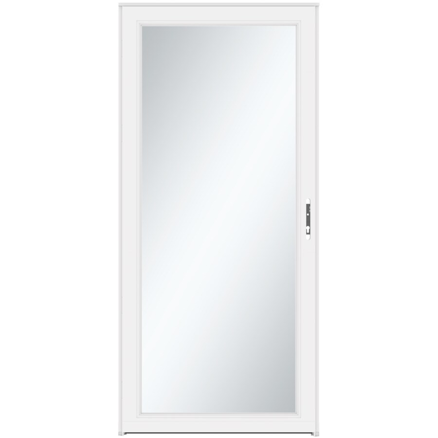 LARSON Signature Selection White Full-View Tempered Aluminum Storm Door (Common: 32-in x 81-in; Actual: 31.75-in x 79.75-in)