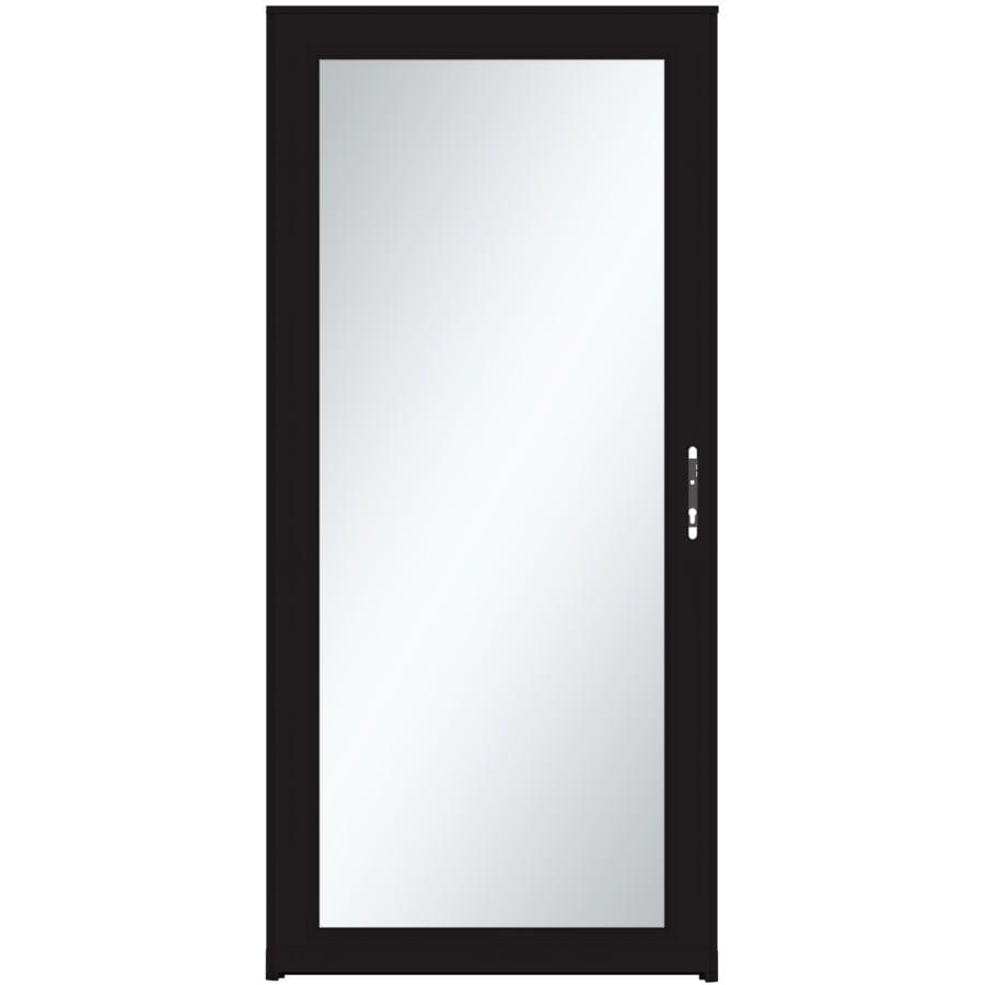 LARSON Signature Selection Black Full-View Tempered Aluminum Storm Door (Common: 32-in x 81-in; Actual: 31.75-in x 79.75-in)