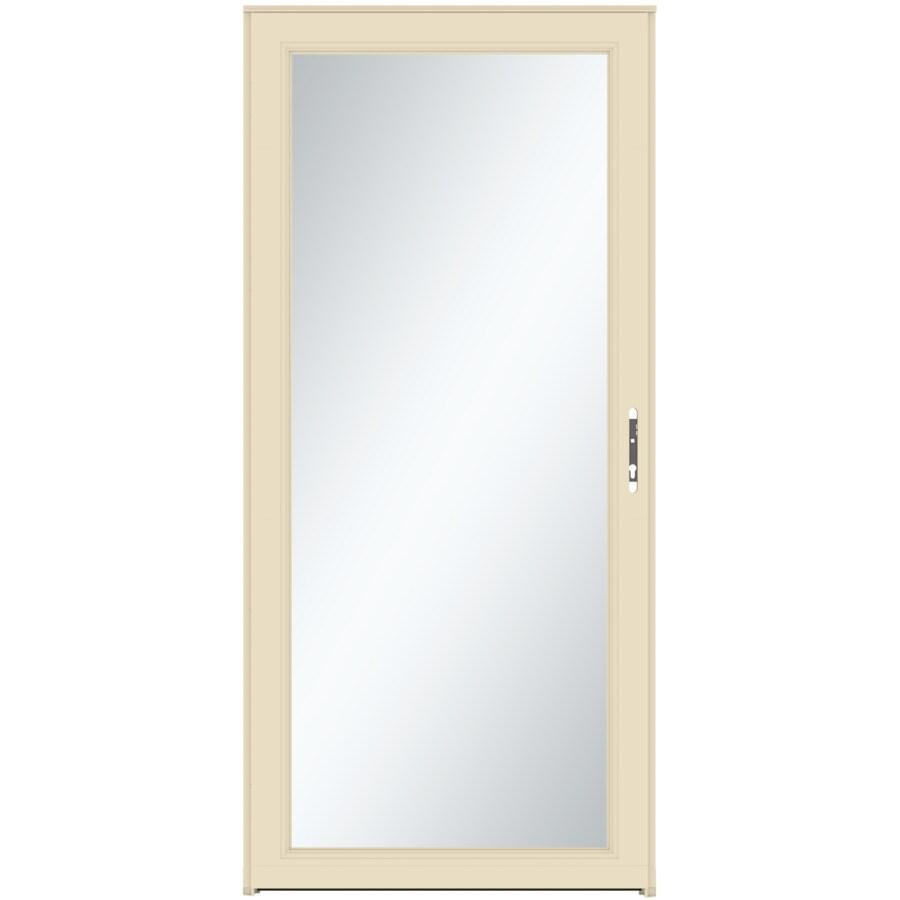 LARSON Signature Selection Almond Full-View Tempered Aluminum Storm Door (Common: 32-in x 81-in; Actual: 31.75-in x 79.75-in)