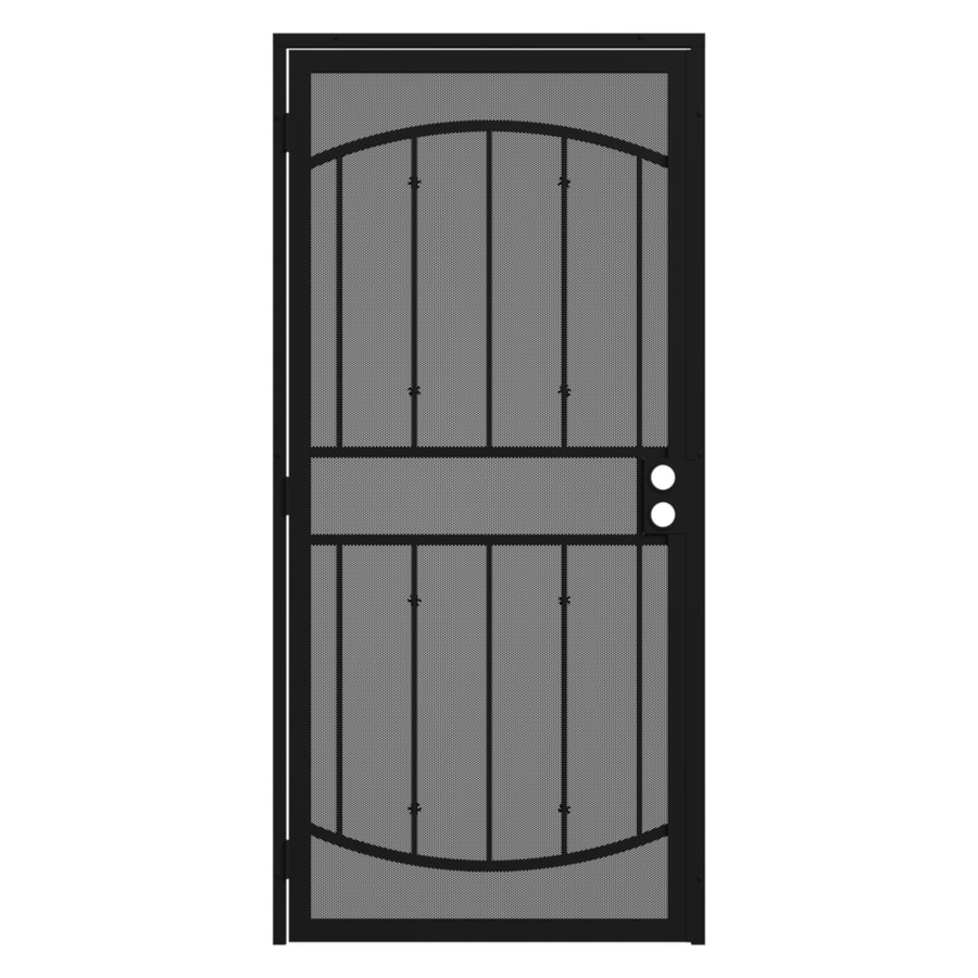Gatehouse Gibraltar Max Black Steel Surface Mount Single Security Door (Common: 36-in x 81-in; Actual: 39-in x 81.75-in)