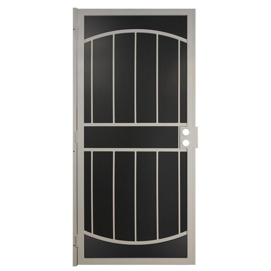 Gatehouse Gibraltar Max Almond Steel Surface Mount Single Security Door (Common: 36-in x 81-in; Actual: 39-in x 81.75-in)