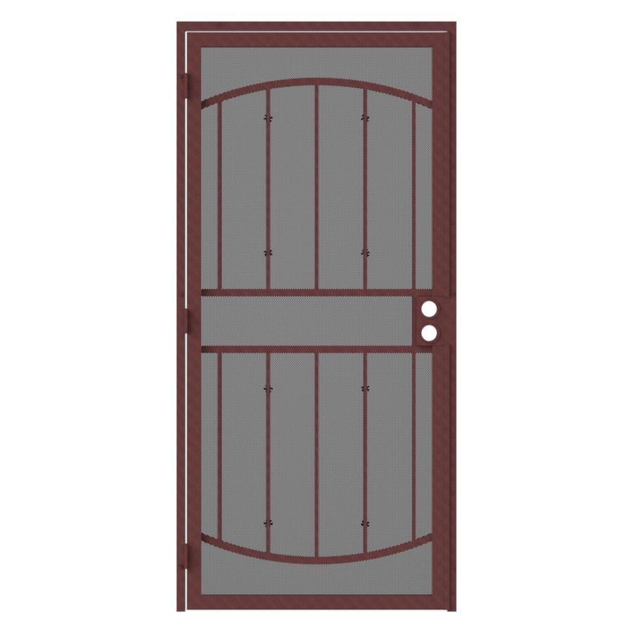 Gatehouse Gibraltar Max Bronze Steel Surface Mount Single Security Door (Common: 36-in x 81-in; Actual: 39-in x 81.75-in)
