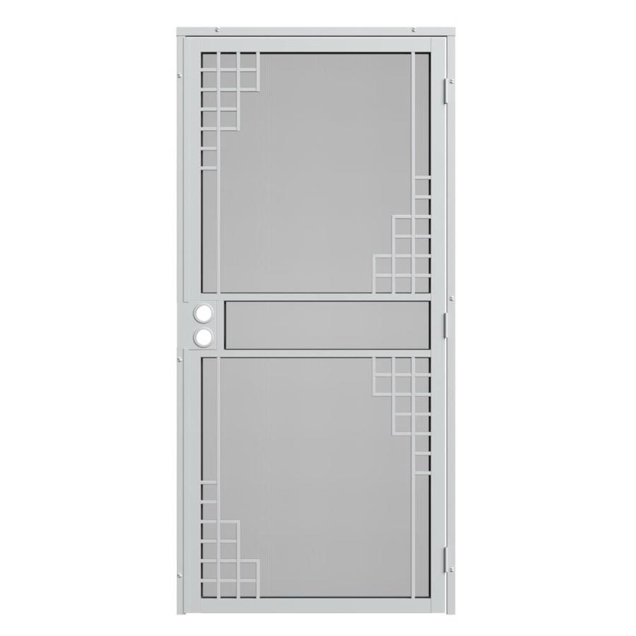 Gatehouse Monterey White Steel Surface Mount Single Security Door (Common: 32-in x 81-in; Actual: 35-in x 81.75-in)