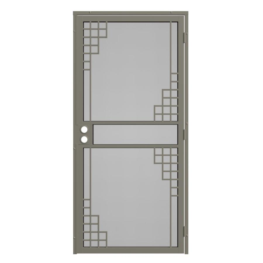 Gatehouse Monterey Almond Steel Surface Mount Single Security Door (Common: 32-in x 81-in; Actual: 35-in x 81.75-in)