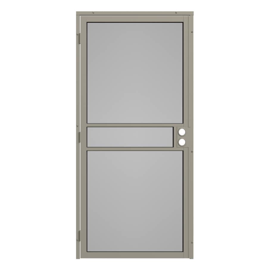Gatehouse Pasadena Almond Steel Surface Mount Single Security Door (Common: 32-in x 81-in; Actual: 35-in x 81.75-in)