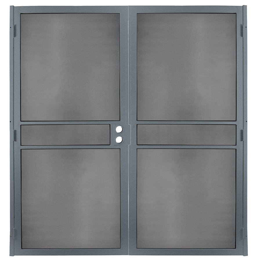 Gatehouse Pasadena Silverado Steel Surface Mount Double Security Door (Common: 64-in x 81-in; Actual: 66.75-in x 81.75-in)