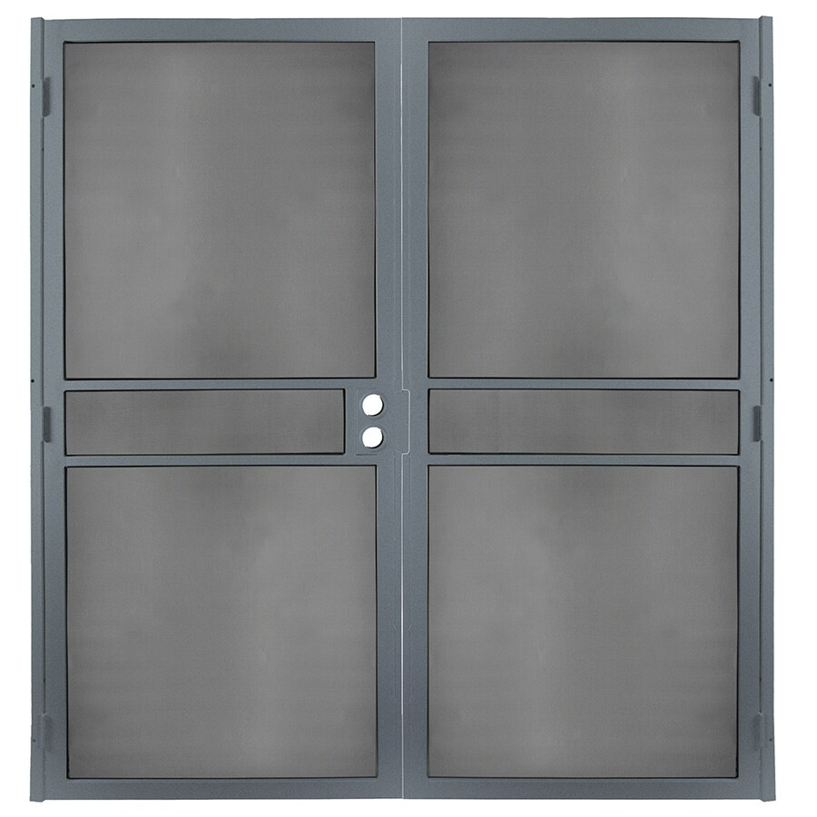 Gatehouse Pasadena Silverado Steel Surface Mount Double Security Door (Common: 72-in x 81-in; Actual: 74.75-in x 81.75-in)