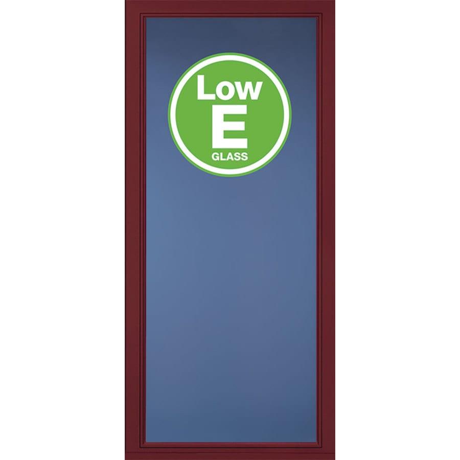 Pella Select Cranberry Full-View Low-E Aluminum Storm Door (Common: 32-in x 81-in; Actual: 31.75-in x 79.875-in)