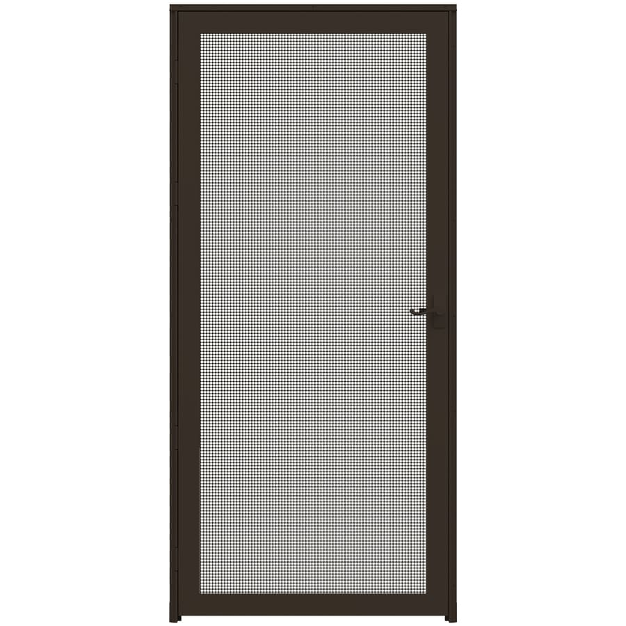 Shop larson pembrook brown aluminum hinged screen door for Aluminum screen doors