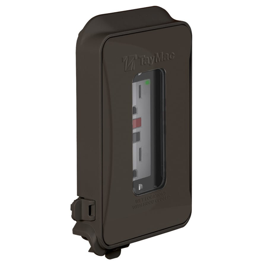 Hubbell TayMac 1-Gang Square Plastic Weatherproof Electrical Box Cover