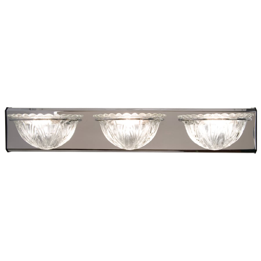 Checkolite International 3-Light Chrome Bathroom Vanity Light