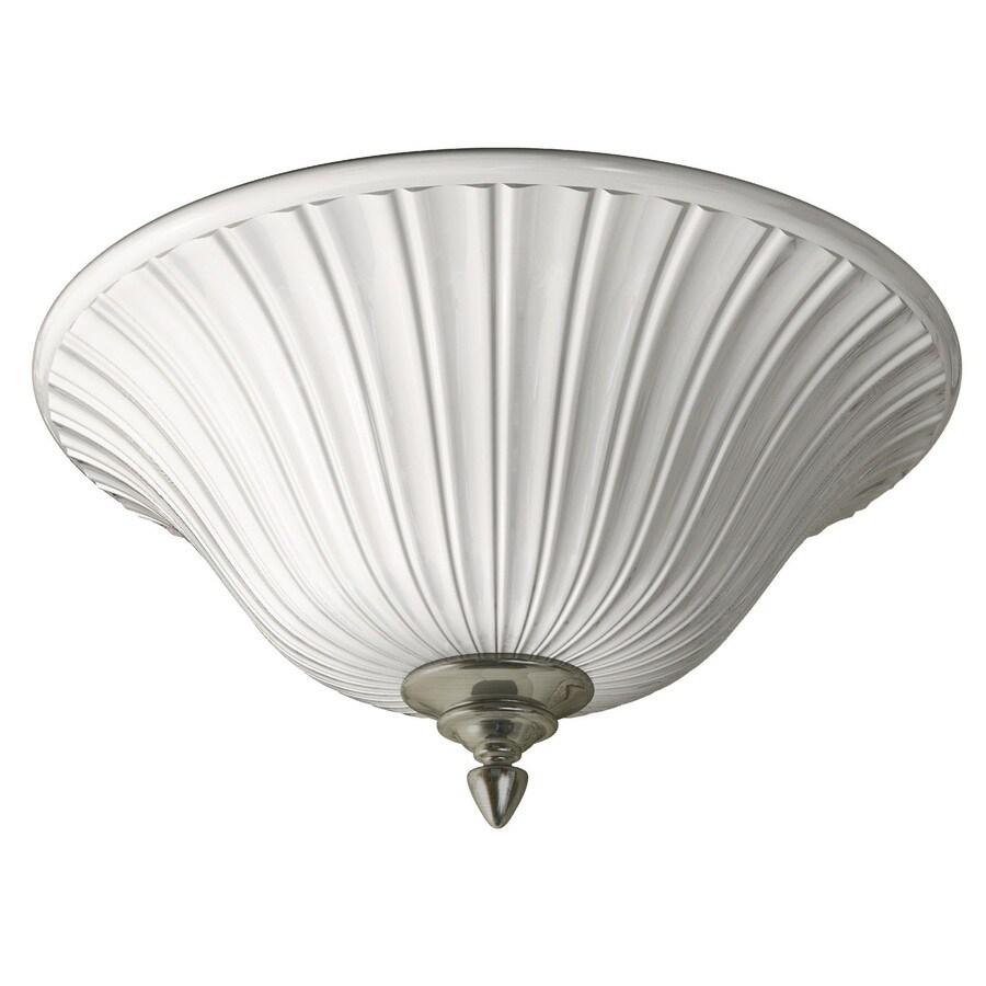 Portfolio 17.71-in W Brushed Nickel Ceiling Flush Mount Light