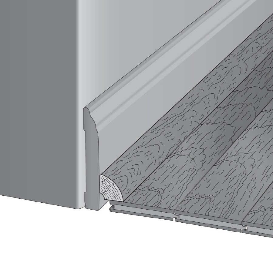 Bruce 0.75-in x 78-in Benedictine Oak Base Floor Moulding
