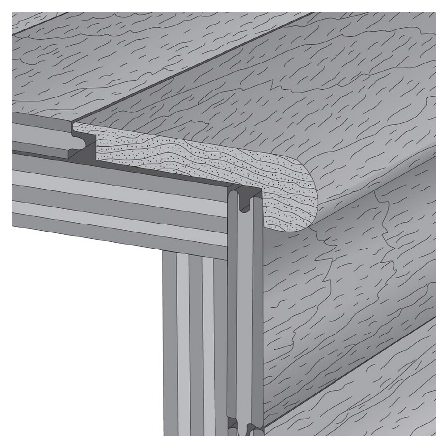 Hartco 2.75-in x 78-in Cherry Natural Wood Stair Nose Floor Moulding